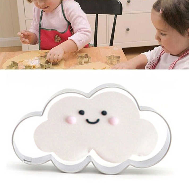 Mới Thép Không Gỉ Bánh Quy Khuôn Cloud/Voi/Nhẫn Đứng Kim Cương/Khí Cầu Khí Nóng/Guitar Người Mẫu Khuôn Bánh dụng Cụ Nhà Bếp
