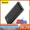 Baseus Power Bank 30000mAh Power USB C Schnelle Poverbank Für Xiaomi iPhone 12 Pro Tragbare Externe Batterie Ladegerät Pover bank