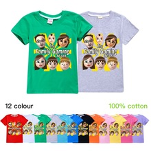 T-Shirt Funny Fgteev Short-Sleeve Halloween Girls Cotton Children Youth Cosplay Tees