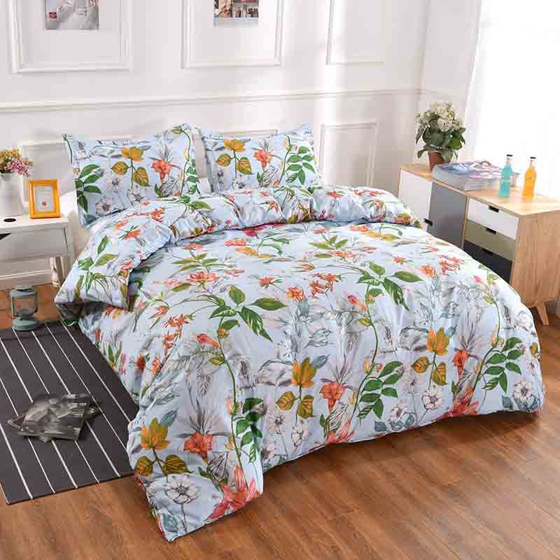 Botique-Lightweight Bedding Duvet Cover, Pillowcase, Multicolored Floral Pattern, Bedding Set, Home Textile Three-Piece