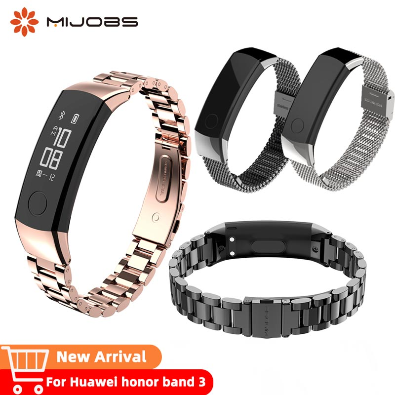Watch Strap Honor Band 3 Metal Bracelet For Huawei Honor 3 Band  Watch Band Wristband Stainless Steel Bracelet For Huawei 3 Band
