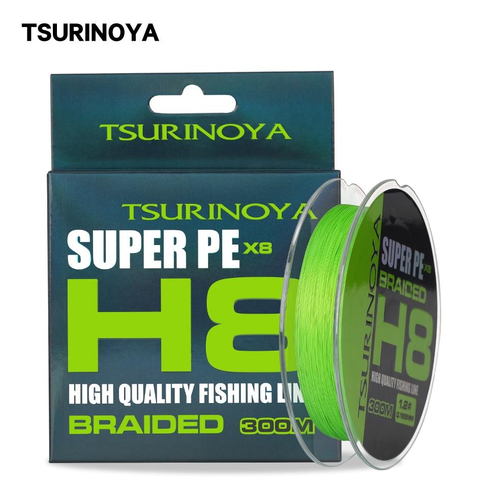 TSURINOYA 8 Strands Braided PE Fishing Line 300m H8 16LB 22LB 25LB 30LB 40LB 45LB 50LB Long Casting Smooth 8 Weaves Tackle