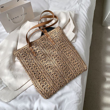 Summer Large Capacity Beach Straw Shoulder For Women's Bag Simple Luxury Brand Travel Shopping Female Handbags Top Handle Totes
