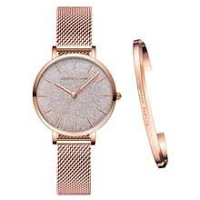 Aço inoxidável malha relógios de pulso topo nova marca de luxo japão movimento quartzo rosa ouro designer elegante estilo relógios para mulher