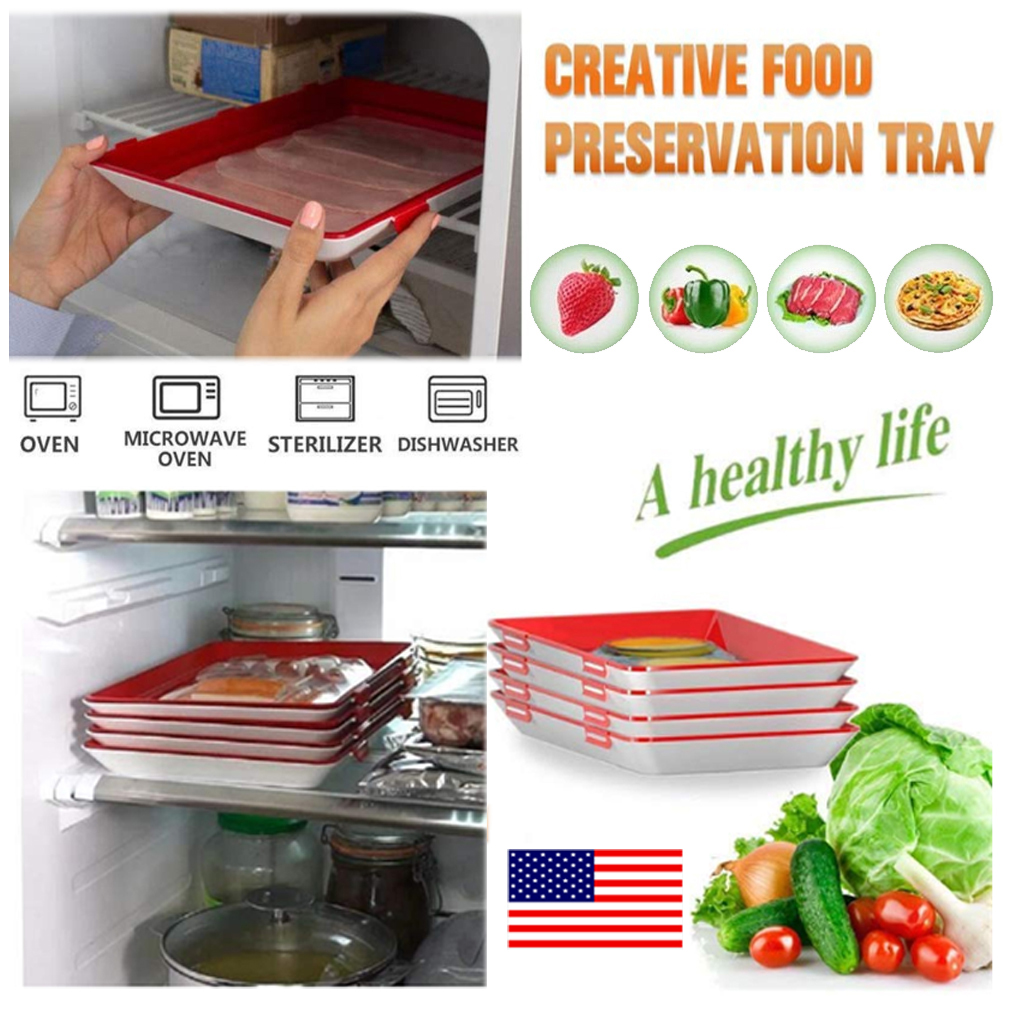 Creative Food Preservation Tray Healthy Tray Storage Container Set Kitchen Tools