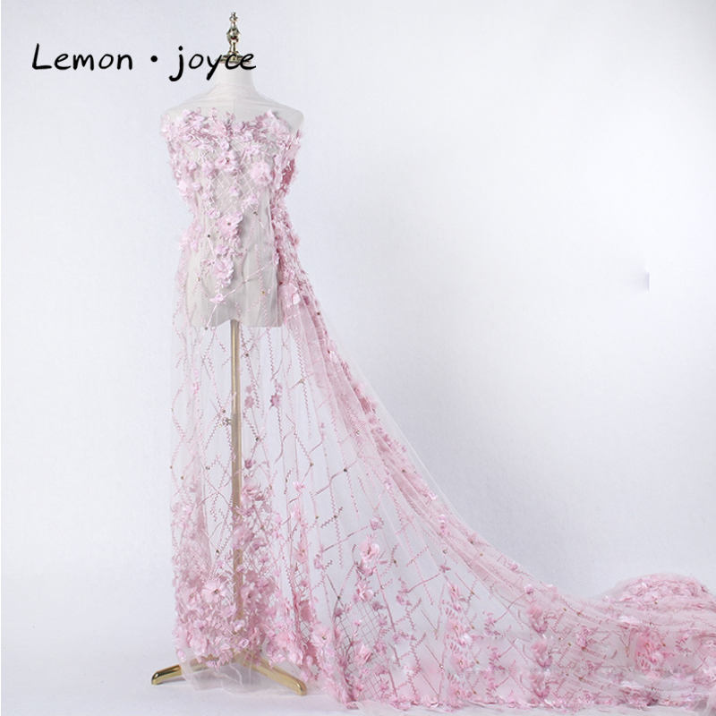 2019 New Arrival African Lace Fabric With Pearl 5 Yards Per Lot Ghana For Wedding Dresses