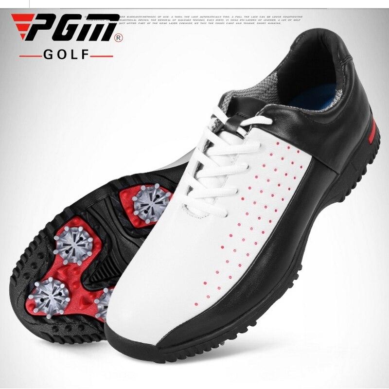 Sapatos de Golfe Couro dos Homens à Prova Dskid Água Skid Resistente Sapatos Atividades Profissionais Prego Atlético Aa10102 2020 Pgm