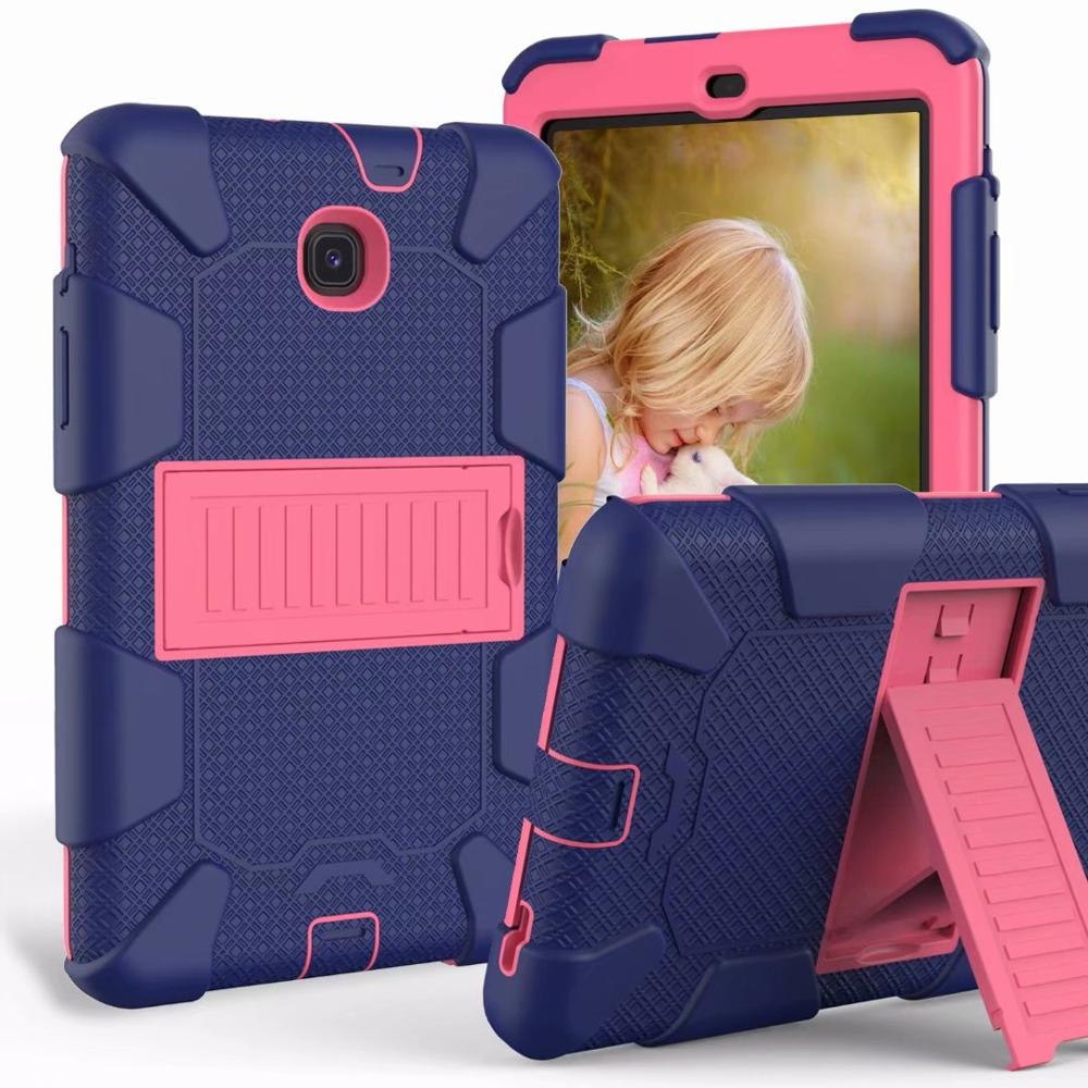 For Samsung Galaxy Tab A 8.0-Inch 2018 SM-T387 Tablet Case Shockproof Kids Safe PC Silicon Hybrid Armor Stand Full Body Cover