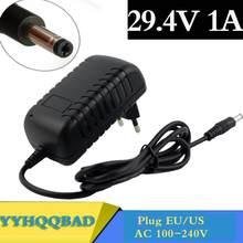29.4V Carregador de Bateria de polímero de lítio AC100-240V 1A DC 5.5 MILÍMETROS * 2.1 MILÍMETROS Carregador Portátil UE/UA/EUA/REINO UNIDO Plug