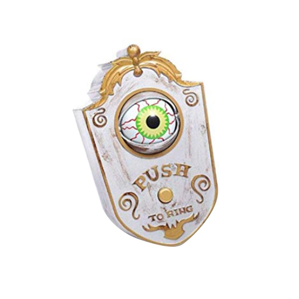 Novelty Doorbell Halloween Door Decorations Horror Props Creepy Eyes Doorbell Haunted House Escape Home Bar Scary Rotating Eyes in Party DIY Decorations from Home Garden