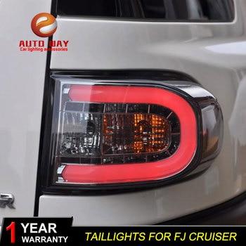 Car Styling Tail Lamp for Toyota FJ Cruiser taillights 2007-2014 FJ Cruiser Taillight LED Rear Lamp LED DRL+Brake+Park+Signal