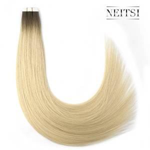 Накладные пряди Neitsi Remy, прямые невидимые волосы с двойным нарисованным клеем, 20 дюймов, 50 г, цвет балаяжа