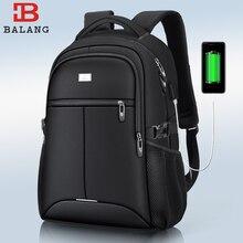حقيبة ظهر من BaLang للكمبيوتر المحمول بشاشة 15.6 بوصة يمكن شحنها بمنفذ USB حقائب ظهر مضادة للمياه للرجال والنساء حقائب سفر