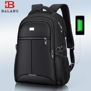 Image 1 - BaLang Laptop sırt çantası 15.6 inç şarj USB bağlantı noktası bilgisayar sırt çantaları erkek su geçirmez erkek iş sırt çantası kadın seyahat çantaları