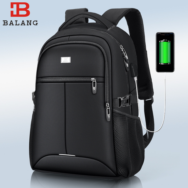 Balangのための15.6インチ充電usbポートコンピュータバックパック男性防水男ビジネス環境dayback女性旅行バッグ