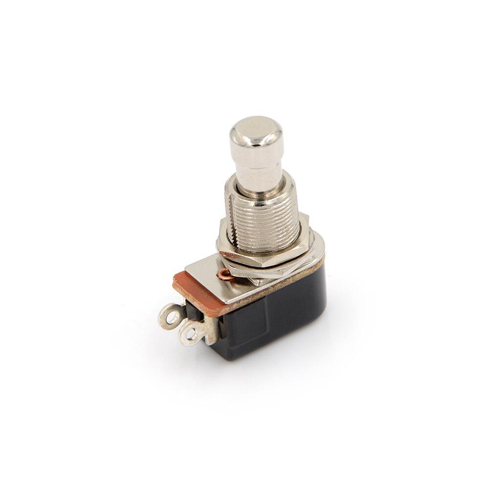 1pc spst momentâneo toque macio botão stomp pedal da guitarra elétrica interruptor de alta qualidade