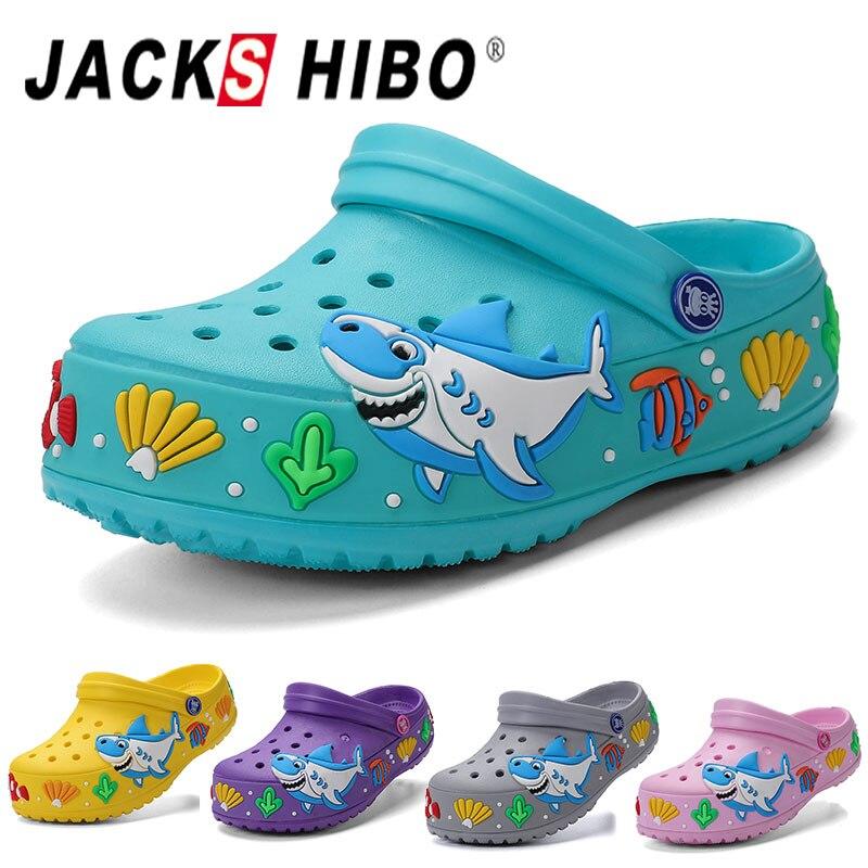 Cute Cartoon Garden Slippers Lightweight Beach Indoor Outdoor Summer Slides Sandals Shoes for Girls Boys JACKSHIBO Kids Clogs Sandals