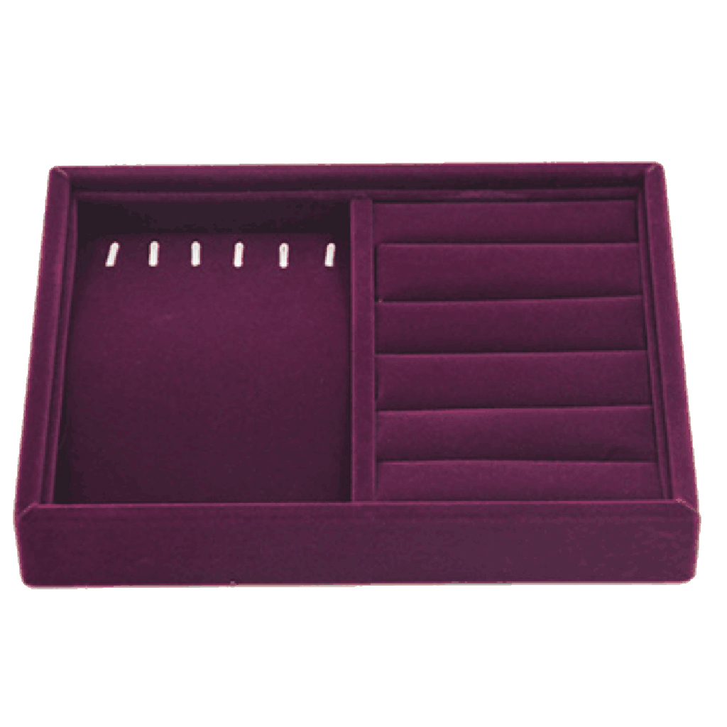 Jewelry Storage Display Case Drawer Earring Ring Necklace Cufflinks Holder