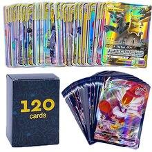 60-300Pcs Pokemons GX card Shining TAKARA TOMY Cards Game Battle Carte Trading Children Toy