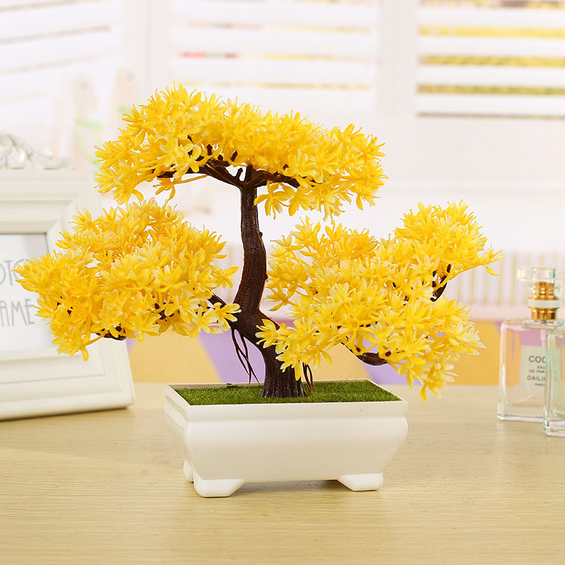 Simulation Flower Artificial Plant Bonsai Fake Green Pot Plants Ornaments Home Decor Small Pine Tree Doll House Play Kids Toys