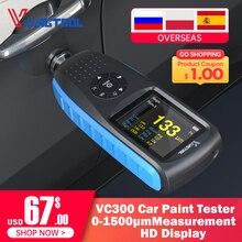 VDIAGTOOL VC200 코팅 두께 게이지 0 1500 VC300 백라이트 자동차 페인트 필름 두께 테스터 FE/NFE 측정 자동차 페인트 도구
