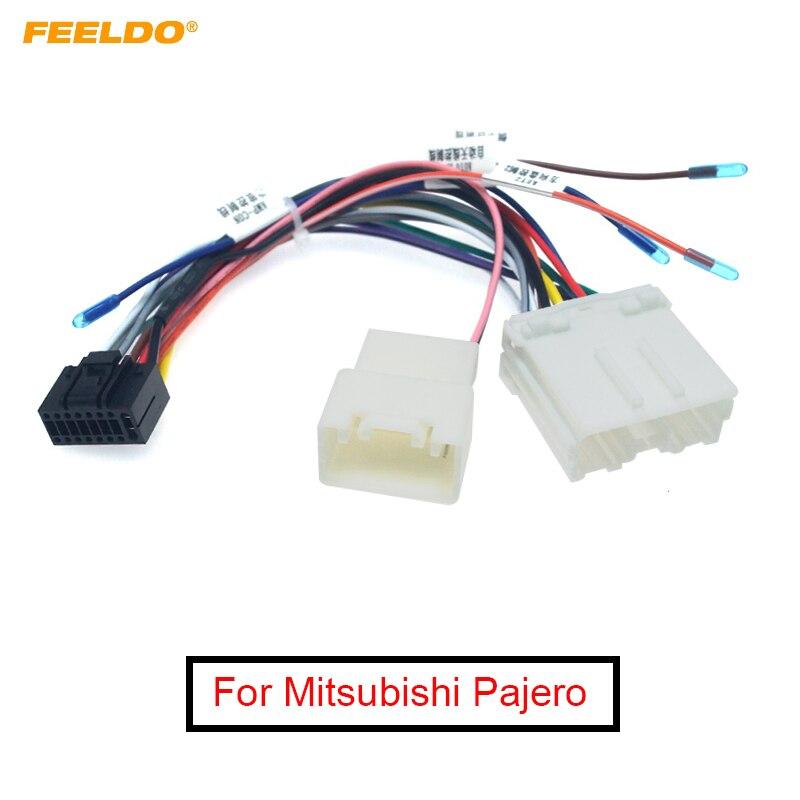 FEELDO 1 шт. автомобильное радио аудио 16-контактный адаптер жгут проводов для Mitsubishi Pajero Sport Power Calbe провод шлейка