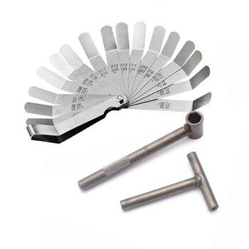 Motorcycle Engine Valve Screw Adjusting Spanner Tool Valve clearance adjustment tools + Feeler gauge 0.005 - 0.020 inch