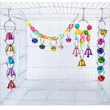 Small Parrot Colorful Bell Toy Creative Funny Colorful Bird Cage Bell Parrot Hanging Bell Parrots Hamster Cage Swing Supplies