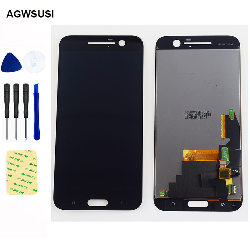 For HTC One M10 LCD Display Touch Screen Digitizer Assembly For HTC 10 One M10 M10H Display Screen One M10 LCD Touch Replacement