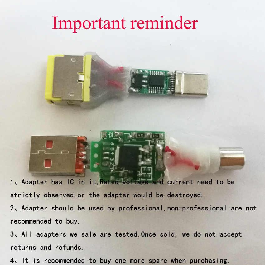 סוג-C USB מיקרו USB DC Plug נקבה זכר כוח מטען מתאם נייד טלפון אביזרי מחבר עמיד בית שיפורים
