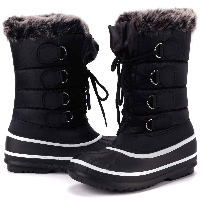 KushyShoo ผู้หญิงกันน้ำฤดูหนาว WARM INSULATED หิมะบู๊ทส์กลางแจ้งผู้หญิง Zapatos De Mujer