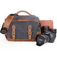 Vintage Retro wodoodporny aparat Batik płótno fotografia ramię dorywczo Messenger zdjęcie mężczyzna kobiet torba dla Canon Nikon Sony DSLR