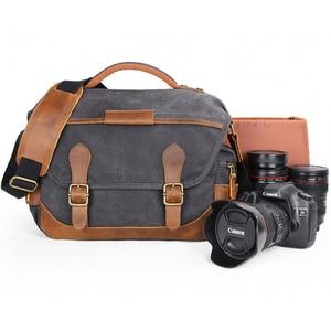 Image 1 - Vintage كاميرا ريترو مقاوم للماء الباتيك قماش التصوير الكتف رسول عادية صور الرجال النساء حقيبة لكانون نيكون سوني DSLR