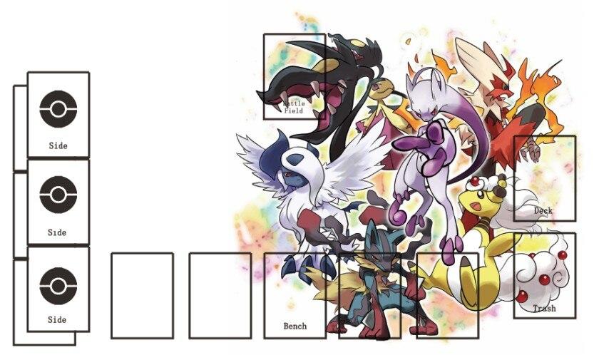 Takara Tomy PTCG Accessories Pokemon Card Board Game Playmat MEGA Pocket Monster Toys For Children