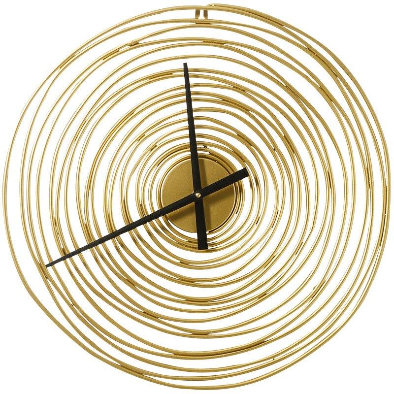 Horloge murale 3D avec anneau de fer or | En métal, décoration murale créative, luxueuse, faite à la main, montre murale en métal, livraison directe