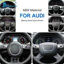 AIRSPEED for Audi A1 A4 A5 A6 A7 A6L Q3 Q5 Q2L Q5L Q7 Accessories Special Car Steering Wheel Button Cover Sticker Interior Trim