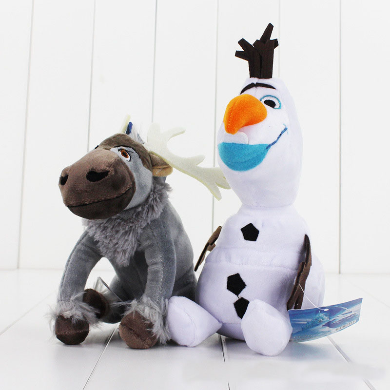 Movies Salamander Sven Olaf Doll Plush Toy Snowman Reindeer Fire Lizard Chameleon Stuffed Soft Plush Toy Kids Gift