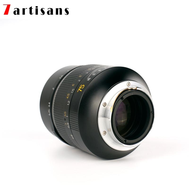 7artisans Стандартный портретный дальномер 75 мм F1.25 M-mount объектив для камер Leica M-M M240 M8 M9 M10 для sony A9 A7M3 canon EOSR Z6
