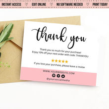 Personalize Logo Business Name Card,thank you cards, Business thank you Card,Custom Text Social Medial Card(China)