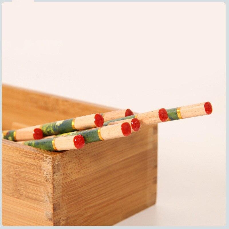 Купить 12 пар столовых приборов ручной работы деревянные рандомные