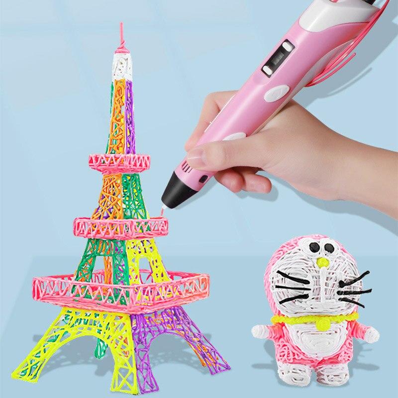 3D Penna Regali Originali Tre D Stampante Penna Per Il Disegno Con La Plastica 100M PLA/ABS Filamento Creatività Di Natale regalo di compleanno