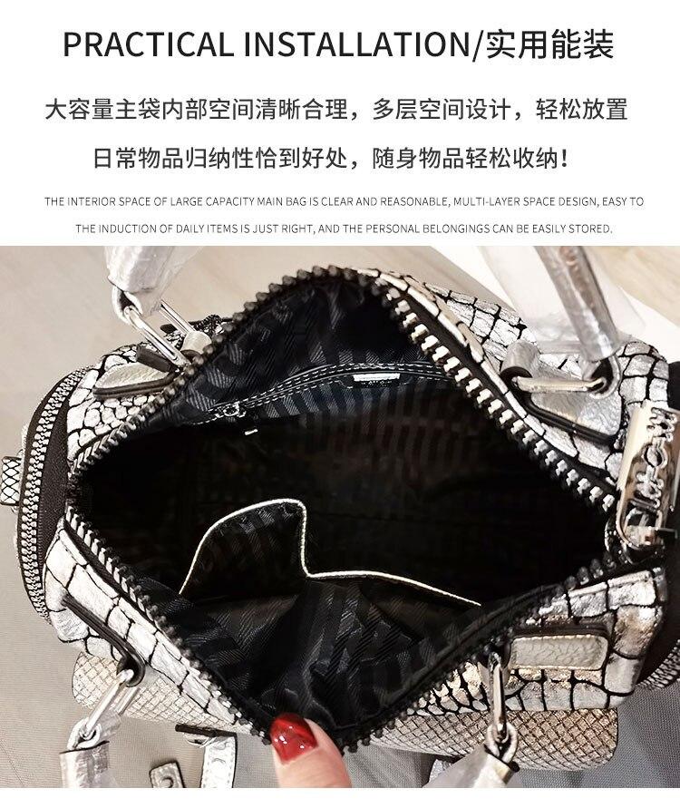 Impressão animal bolsa feminina padrão de cabeça