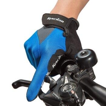 Guantes de ciclismo Unisex con pantalla táctil, guantes antideslizantes suaves, guantes de dedo completo para motociclista de competición, equitación, Moto, Moto, motocross