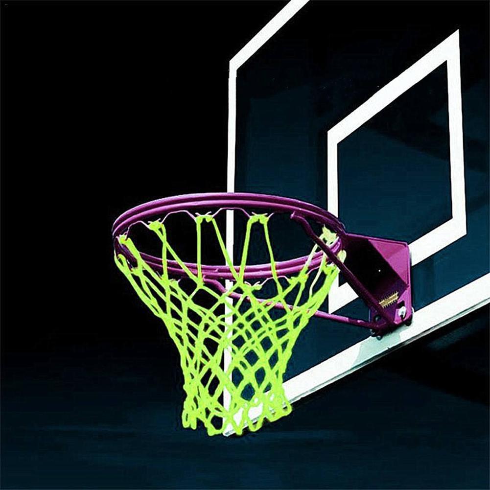 New Glowing Light Shooting Training Green Luminous Basketball Net Backboard Ball Mesh Nylon Standard Basketball Outdoor Hoop Net