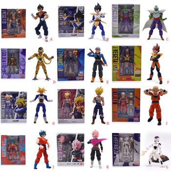 12 styles Anime Dragon Ball SHF Frieza Vegeta Piccolo Jr Goku Zamasu Trunks PVC Action Figure Doll Model Toy Christmas Gift 52styles pvc amine figma mini dragon ball z goku golden frieza great vegeta zamasu ape vinyl action figure collectible model toy