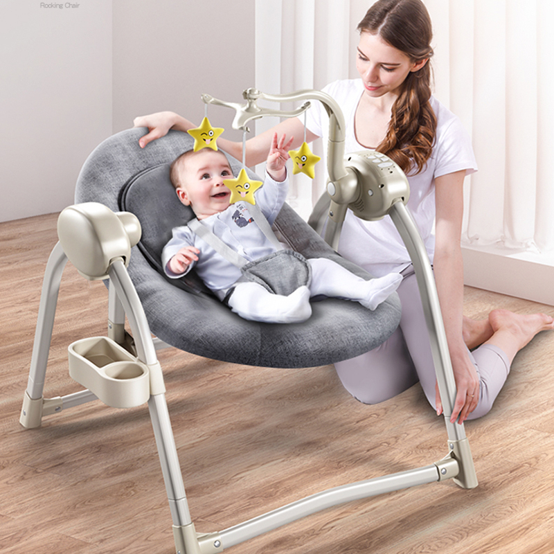 Baby Electric Rocking Chair Baby Cradle Recliner Comfort Rocking Chair Newborn Shake Shaker Artifact
