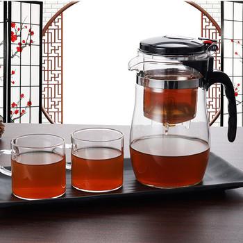 Szkło odporne na ciepło zaparzacz do herbaty dzbanek na herbatę chiński zestaw do herbaty Kung Fu czajnik do pu-erh szklanka do kawy ekspres do wygodne biuro zestawy do herbaty tanie i dobre opinie ANCHENG 401-500 ml Ceramiki
