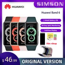 Huawei band 6 smartband oxigênio no sangue 1.47 amamamtela amoled monitor de freqüência cardíaca monitor sono smartband