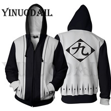 купить Men and Women Zip Up Hoodies Anime Bleach Hoodie Squad 9 Captain Sweatshirt Cosplay Costumes Harajuku Streetwear по цене 1303.93 рублей