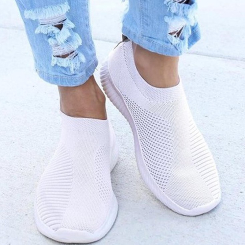 White Sneakers Flats-Shoes Basket Loafers Slip On Super-Light Femme Summer Woman Chaussures title=